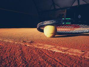 clay tennis court ball